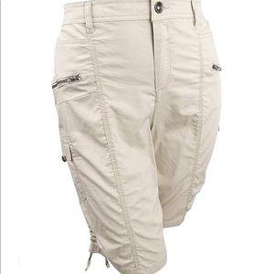 Style & Co white bermuda cargo shorts